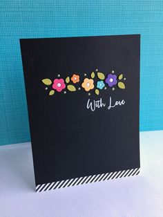 I used the pretty new Simon Says Stamp Blooming Wave die to make a few cards! This border die is soooo pretty...it needs nothing besi...
