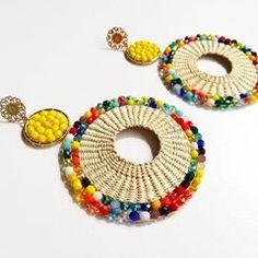 I Love Jewelry, Diy Jewelry, Beaded Jewelry, Fashion Jewelry, Jewelry Making, Jewellery, Copper Earrings, Bead Earrings, Crochet Earrings Pattern