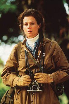 Sigourney Weaver with a camera