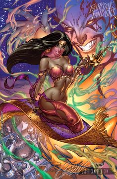 In this post we will featured some pretty awesome and sexy Disney princesses, done in a comic book style. Jeffrey Scott Campbell is an american comic book artist and the author of this version for adults, in a pin-up style, of the famous Disney princesses. These are your favorite Disney Princesses like you've never seen them before. You could say that Campbell provide the opportunity for adults to enjoy the story of Little Mermaid, Cinderella, Alice in Wonderland, Tinkerbell, Rapunzel, Snow…