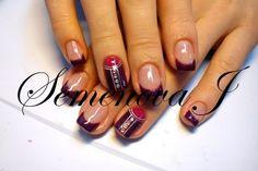 Nails Desing Yulia 2014 Original Dunkel Rot