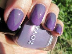 Concrete and Nail Polish: Zoya Lotus & Tru: A Nail Art Comparison!