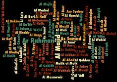Asmaul Husna typography