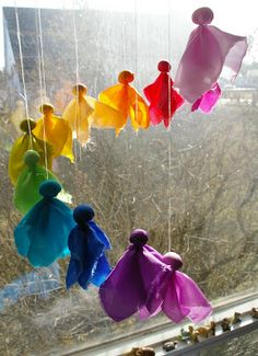 Beneath the Rowan Tree: Waldorf Inspired Craft : Silk Fairy Mobile (Tutorial + Link to DIY Kit)