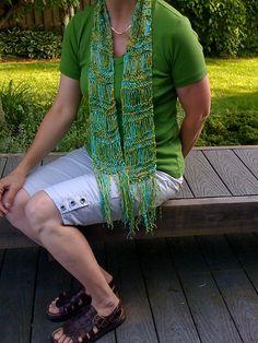 Drop stitch summer scarf