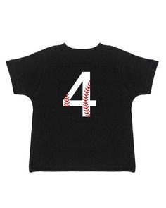 4th Birthday Shirt  Baseball Birthday  Fourth Birthday  by Umbuh