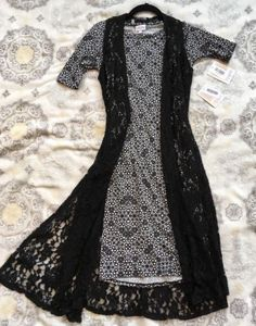 LuLaRoe-Outfit-Lot-JULIA-XS-JOY-XS-Lace-Black-White-Dress-VERSATILE-CLASSY