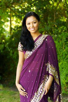 purple saree via Sam. Mary Catherine, I keep forgetting what shade of purple you want.