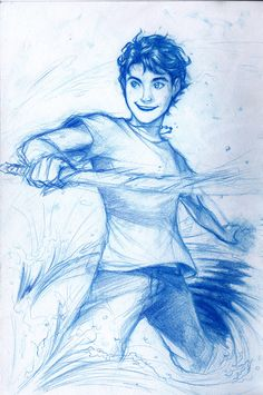 Day Two of the Percy Jackson Challenge. Favorite Demigod. The original. The one and only, Percy Jackson. Kudos to whoever drew this. (Not me, I can barely draw a star)