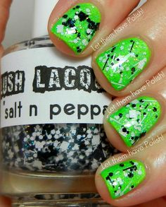 Lush Lacquer 'salt n peppa', used for 1 mani, $4.00 plus shipping