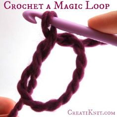 How to crochet a Magic Loop …it's so easy! Learn to make a magic loop to begin many crochet projects & patterns!