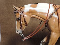 CM WESTERN SADDLE BREYER STONE ACCESSORY BRIDLE WITH  BREAST COLLAR Very well made & unique set! X Donna Allen, 2014