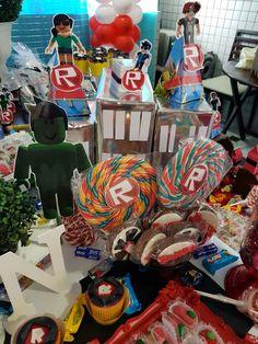 Roblox Roblox Birthday Cake, Lego Birthday Party, 11th Birthday, 6th Birthday Parties, Roblox Cake, Golden Birthday, Birthday Decorations, Party Themes, Party Ideas