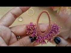 Tiny Stud Earrings, Seed Bead Earrings, Diy Earrings, Coral Earrings, Beaded Earrings Patterns, Beading Patterns, Beaded Rings, Beaded Bracelets, Bead Jewellery