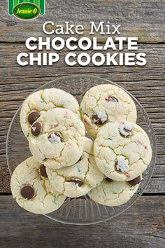 Cake Mix Chocolate Chip Cookies. Just five ingredients make up these ...