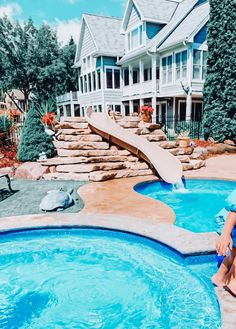 Dream Home Design, My Dream Home, Dream Life, Luxury Pools, Dream Pools, Cute House, Photos Voyages, Dream House Exterior, Summer Pictures