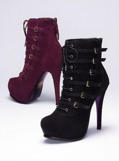 "The Oxblood color is the new ""IT"" color for fall. Waverly Lace-up Bootie - Mojo Moxy® - Victoria's Secret $169.00"