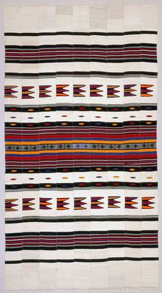 """Africa   Blanket ~ """"Luru"""" ~ from the Hausa people   ca. 1900s   Cotton"""