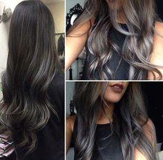 25+ Haarfarbe Ideen für dunkles Haar