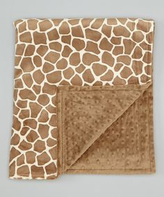 Look at this The Minky Boutique 28'' x 38'' Sand & Cappuccino Giraffe Minky Stroller Blanket on #zulily today!
