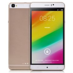 """nice 6"""" Inch Unlocked Android 4.4.2 MTK6572 Dual Core Smartphone 598.0~1203.0MHz RAM 512MB ROM 4GB Unlocked Dual SIM WCDMA GPS QHD IPS 6inch Cell Phones (Gold)"""
