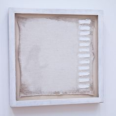 """Robert Ryman  A painting of twelve strokes, measuring 11 ¼"""" x 11 ¼"""" signed at the bottom right corner, 1961"""