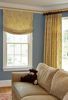 If you have a window you want to add height to, try a single swoop. You want the treatment to be as wide as the outside of your window, by kelli