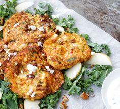 Zucchinibiffar med fetaost Raw Food Recipes, Vegetable Recipes, New Recipes, Vegetarian Recipes, Healthy Recipes, Swedish Recipes, Healthy Food, Recipies, Greens Recipe