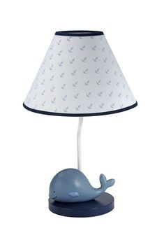 Nautica Kids Brody Nautical Whale Lamp Base And Shade Blue Light White