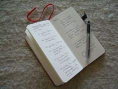 A peek inside British Writer Gail Aldwin's Paperblanks notebook