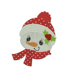 Snowman with a scarf Filled With a hat by EmbroideryMonkey on Etsy