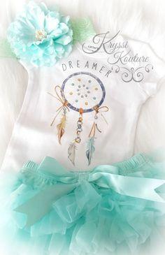 Newborn Baby Girl or Boy Boho Dream Catcher Dreamer Infant Onesie Shirt - Ruffles & Bowties Bowtique - Calgary