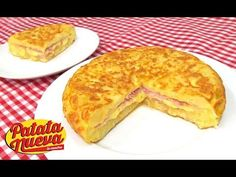 Tortilla de Patata Rellena de Jamón y Queso - YouTube
