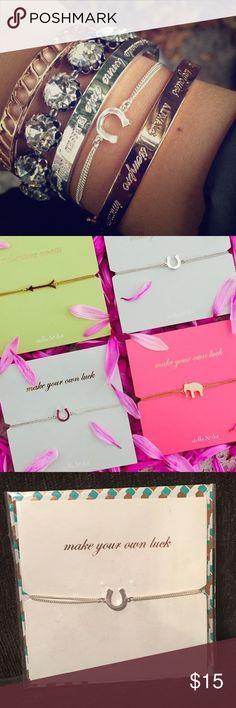 """Stella & Dot Wishing Bracelet- Horseshoe SOLD OUT Horseshoe wishing bracelet. BRAND NEW IN PACKAGE. Adjustable 6""""-9"""". Fits small-large wrists. Stella & Dot Jewelry Bracelets"""