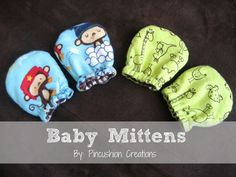 These Baby Mittens will keep your newborn baby's fingers nice and cozy during the cold winter months! Swap out a light weight fabric for the flannel during the