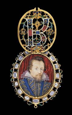 The Lyte Jewel.Enameled gold set with diamonds, 1610. The locket contains a portrait by Nicholas Hilliard of James VI and I of Scotland and England. The Waddesdon Bequest. (Photo © The Trustees of the British Museum)