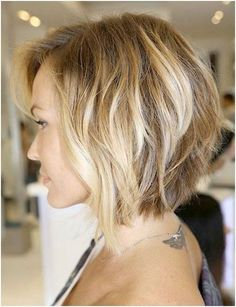 Medium Length Bob Hairstyle for Wavy Hair Side View