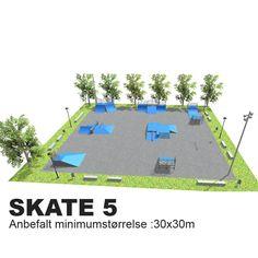 SKATE 4-5-6 er for viderekomne. Det betyr ikke at det ikke er en park for alle, men flere av elementene er større og mer krevende.