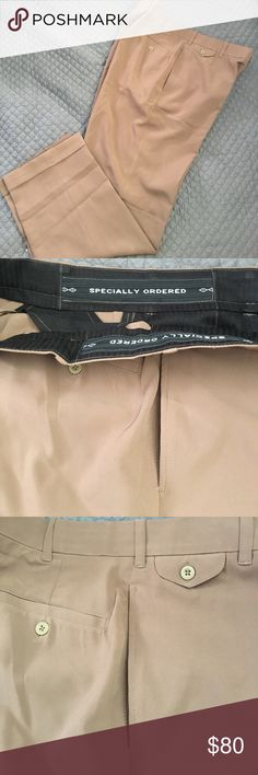 Fine tailored in Dubai men slacks These fine slacks were tailored made in Dubai. Only worn once and dry cleaned. Excellent condition. Tailored Made Pants Dress