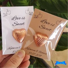 Love is sweet rose gold personalised wedding favours chocolate wedding favors, wedding favours, wedding Honey Wedding Favors, Chocolate Wedding Favors, Creative Wedding Favors, Inexpensive Wedding Favors, Elegant Wedding Favors, Cheap Favors, Wedding Gifts For Guests, Personalized Wedding Favors, Wedding Party Favors