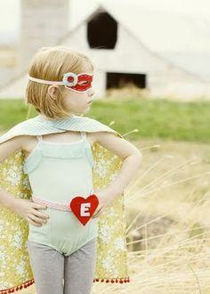 Little girl superhero!  Love it.
