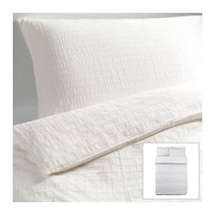 OFELIA VASS Duvet cover and pillowcase(s) - white, Full/Queen (Double/Queen) - IKEA 50.00 wish this was in gray!