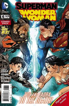 SUPERMAN/WONDER WOMAN #6 ... MARCH 2014 Written by CHARLES SOULE Art and cover by TONY S. DANIEL and BATT When the Phantom Zone is breached by Zod, Superman and Wonder Woman are forced to do the unthinkable to stop the tyrant from global destruction. But can they do what must be done – and will the world forgive them? And Clark & Diana continue to ponder why and if they should be together on their way to battle Zod & Faora.