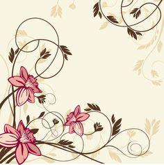 Resultado de imagem para florais nas bordas de canto