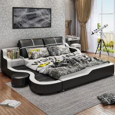 Modern minimalist leather bed tatami leather bed m master bedroom small apartment double bed wedding bed storage bed Modern Master Bedroom, Bedding Master Bedroom, Bedroom Decor, Bedroom Small, Bed Designs With Storage, Double Bed With Storage, Corner Sofa Design, Living Room Sofa Design, Luxury Bedroom Design