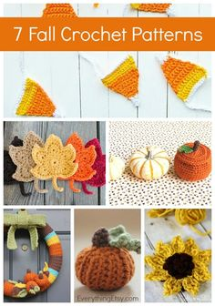 DIY Fall Crochet Patterns - 7 Free Designs on EverythingEtsy Diy Spring, Fall Diy, Crochet Gifts, Cute Crochet, Crochet Things, Yarn Projects, Crochet Projects, Crochet Ideas, Crochet Designs