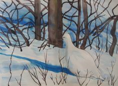 Ptarmigan watercolour