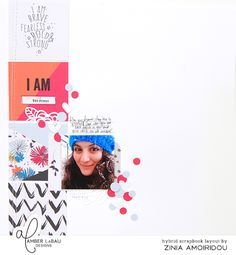 Yesterday I shared another #hybridscraps video using @AmberLaBauDesigns latest digital release. It's a very fun and simple layout using some printable journaling cards to create a line on the left side and building the rest of the design from there. Make sure to take a look at my YouTube channel (search Abstract Inspiration) for the process video and more videos of this hybrid scrapbooking series. #amberlabau #amberlabaudesigns #thelilypad #craft #create #make #scrapbook #scrapbooking…