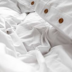 Bedding set made from very soft jersey in pure white colour. The natural fabric allows the skin to breathe and bed linen is as pleasant to the touch as your beloved t-shirt. Pillowcases and duvet have natural wooden buttons. You'll love it from the first touch. Cotton Bedding, Linen Bedding, Couple Bed, Pure White, Pillowcases, Bed Linen, Breathe, Duvet Covers, Buttons