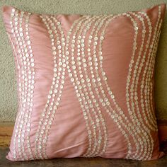 Pearl drops on pillow